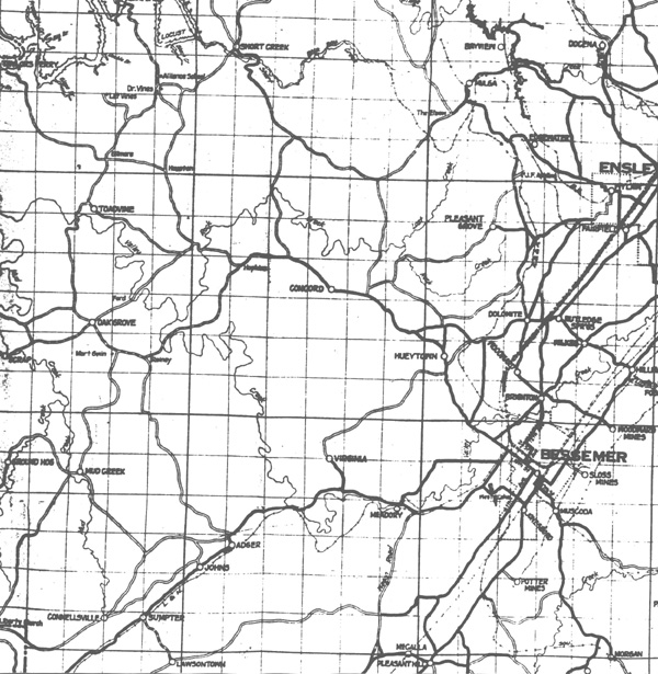 Maps Of The Hueytown Area - Road map of alabama